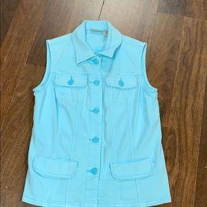 Chico's blue vest. Size 0